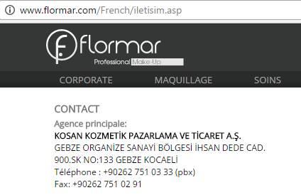 Flormar contact